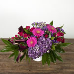 Hot pink and purple bouquet DIY wedding flowers