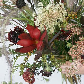 Burgundy Fall Wedding Flower Package