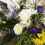 Purple and yellow bouquet DIY wedding flowers