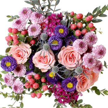 Holiday Cheer Pink Mother's Day Online Flower Bouquet