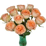 Country Home Peach Garden Wholesale Roses In a vase