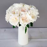 Creamy White Garden Wholesale Roses In a vase