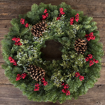 Holiday Greenery Mantelpiece Wreath