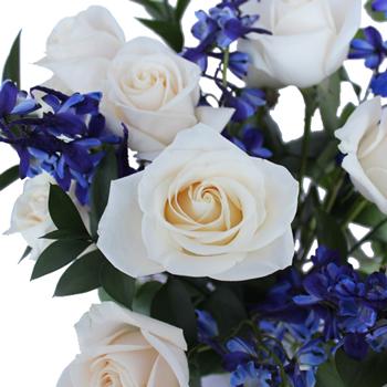 Dozen Cream Rose Table Arrangements