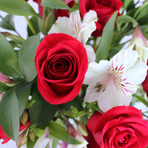 Dozen Red Rose Centerpieces