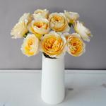 Effie Ausgrey Light Orange Garden Wholesale Roses In a vase