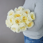 Ella Auswagsy White Garden Rose Bunch