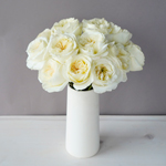 Ella Auswagsy White Garden Wholesale Roses In a vase