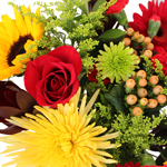 Fresh Yellow and Red Flowers Bridal Centerpieces