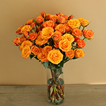 Golden Melon Spray Wholesale Roses In a vase