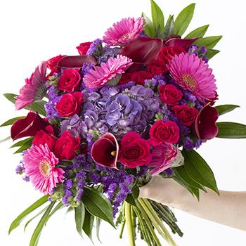 Fierce Love Pink and Purple Flower Bouquet
