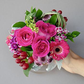 Dark Pink Themed Event Decorative Flower Arrangement