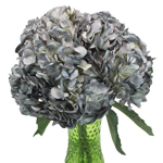 Airbrushed Silver Hydrangea Wholesale Flower In a vase
