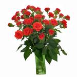 Jazzabell Dark Orange Wholesale Roses In a vase