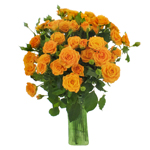 Light Golden Orange Spray Wholesale Roses In a vase