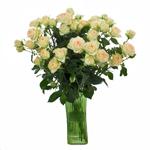 Light Peach Spray Wholesale Roses In a vase