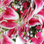 Lilies and Bling Holiday DIY Flower Kit Up Close