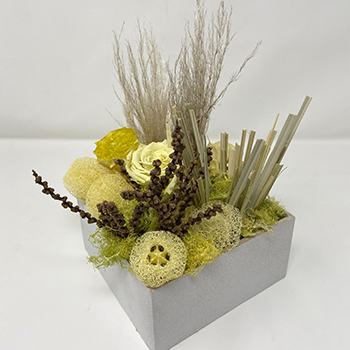 Yearning Yellow Dried Flower Arrangements