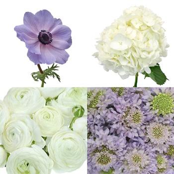Lush Garden Lavender DIY Flower Kit Bunch