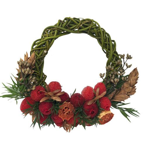 Cottage Red Indoor Dried Wreath