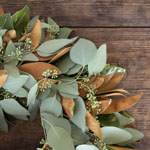 Magnolia and Seeded Eucalyptus Wreath Delivery