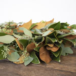 Magnolia and Seeded Eucalyptus Wreath for Weddings