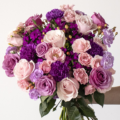Magic Wish Purple and Pink Flowers Bouquet