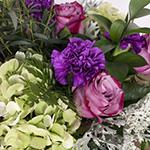 Midnight Kiss Purple and Green DIY Wedding Centerpiece In a Vase