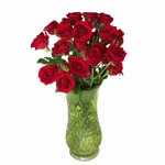 Mikado Light Red Spray Wholesale Roses In a vase