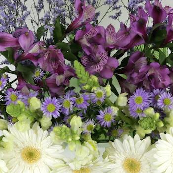 Monochromatic Purple DIY Flower Kit Up Close