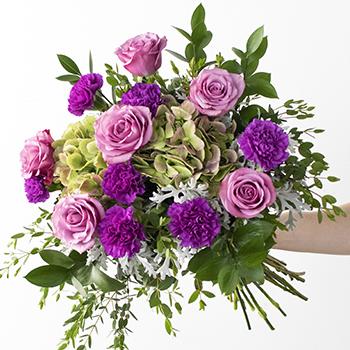 Simply Soothing Purple Flowers Arrangement