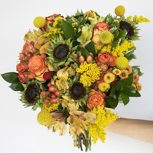 Modern Sunflower Centerpiece Celebration
