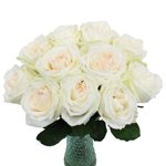 Naturally White Garden Wholesale Roses In a vase