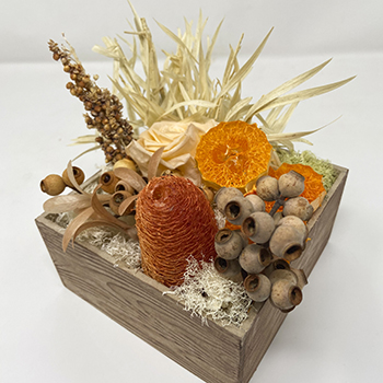 Tantalizing Tangerine Bleached Dried Flowers