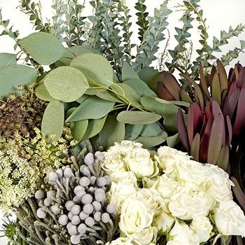 Oxblood and Sage DIY Flower Kit Up Close