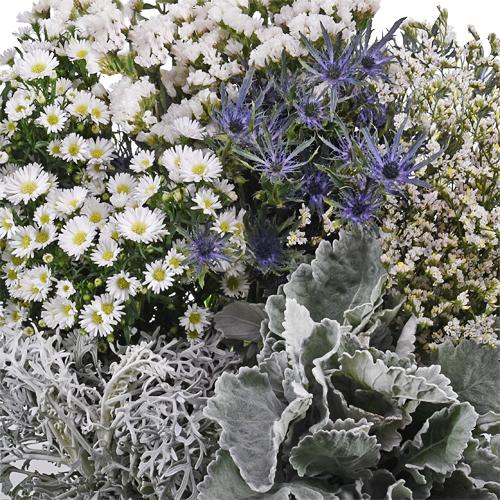 Papier Mache Textured Filler DIY Flower Kit Up Close