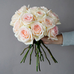 Pastel Perfection Garden Wholesale Rose Bunch in a hand