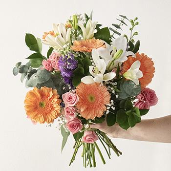 Peach Mother's Day Flower Bouquet