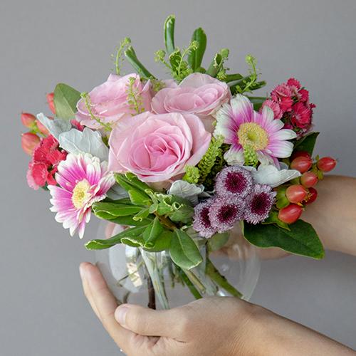 Valentines Day Pink Event Flower Arrangement