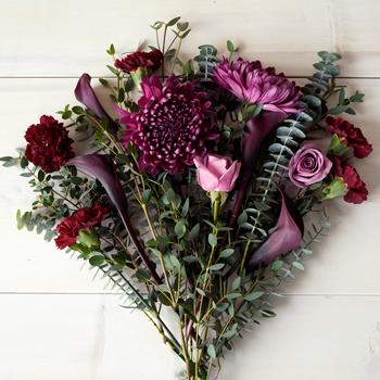 Plum Perfection DIY Flower Kit Flatlay