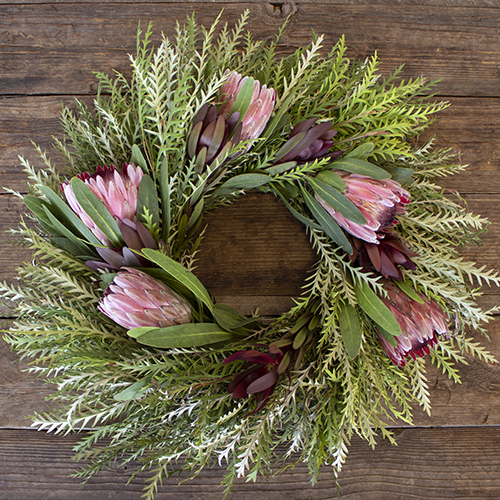 Prime Day Safari and Pink Ice Protea Wreaths