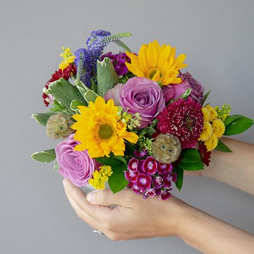 Purple Themed Event Decorative Flower Arrangement