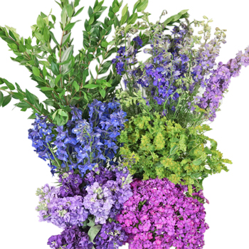 Purple Passion Combo DIY Flower Kit Bunch