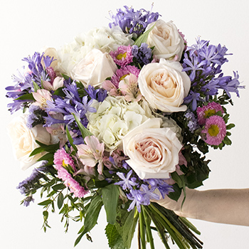 Drifting Clouds Pink and White Flower Arrangement
