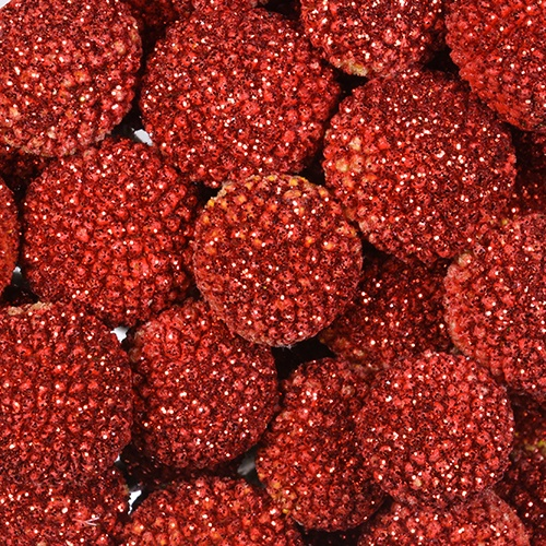 Craspedia Billy Balls Glitter Red Flower