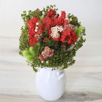 Cherry On Top Red Dried Flower Arrangement