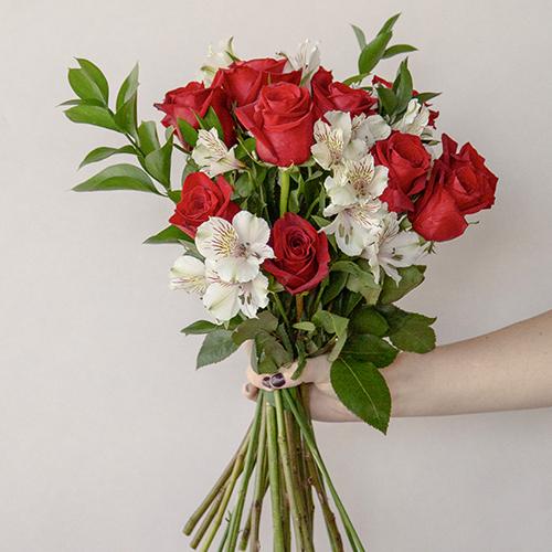 Dozen Red Rose Centerpieces