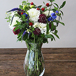 Red White Blue Wildflower Wholesale In a vase