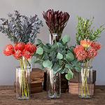 Rosado Waves Tropical DIY wedding flowers in vases