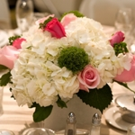 Rose and Hydrangea Small DIY Flower Kit In a Vase